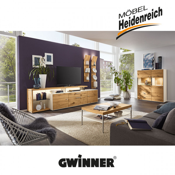 GWINNER media concept Wohnwandkombination MC921 inkl. Beleuchtung