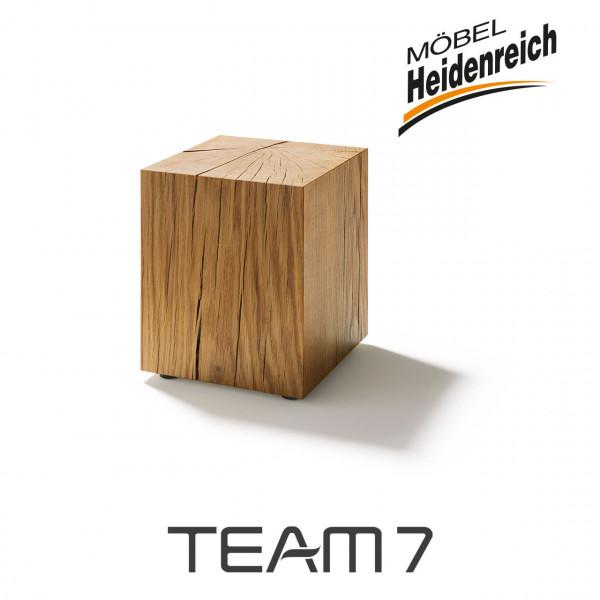 TEAM7 - Naturholzblock Eiche Beistelltisch