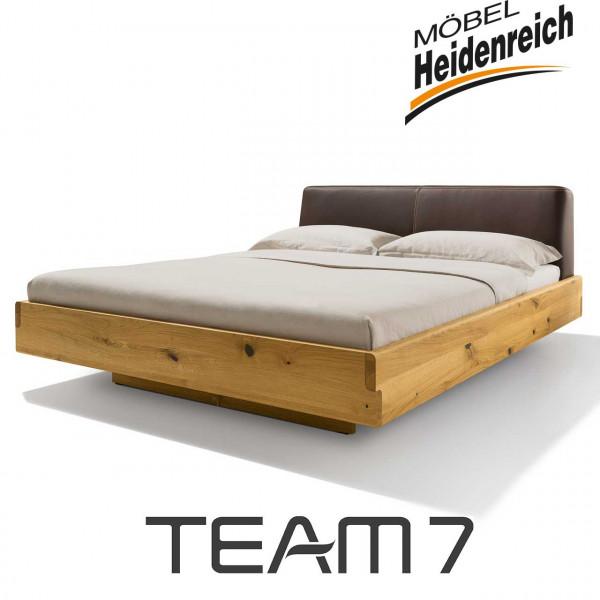 Team7 nox bett Polsterhaupt Leder L1 dunkelbraun Jubiläumsedition