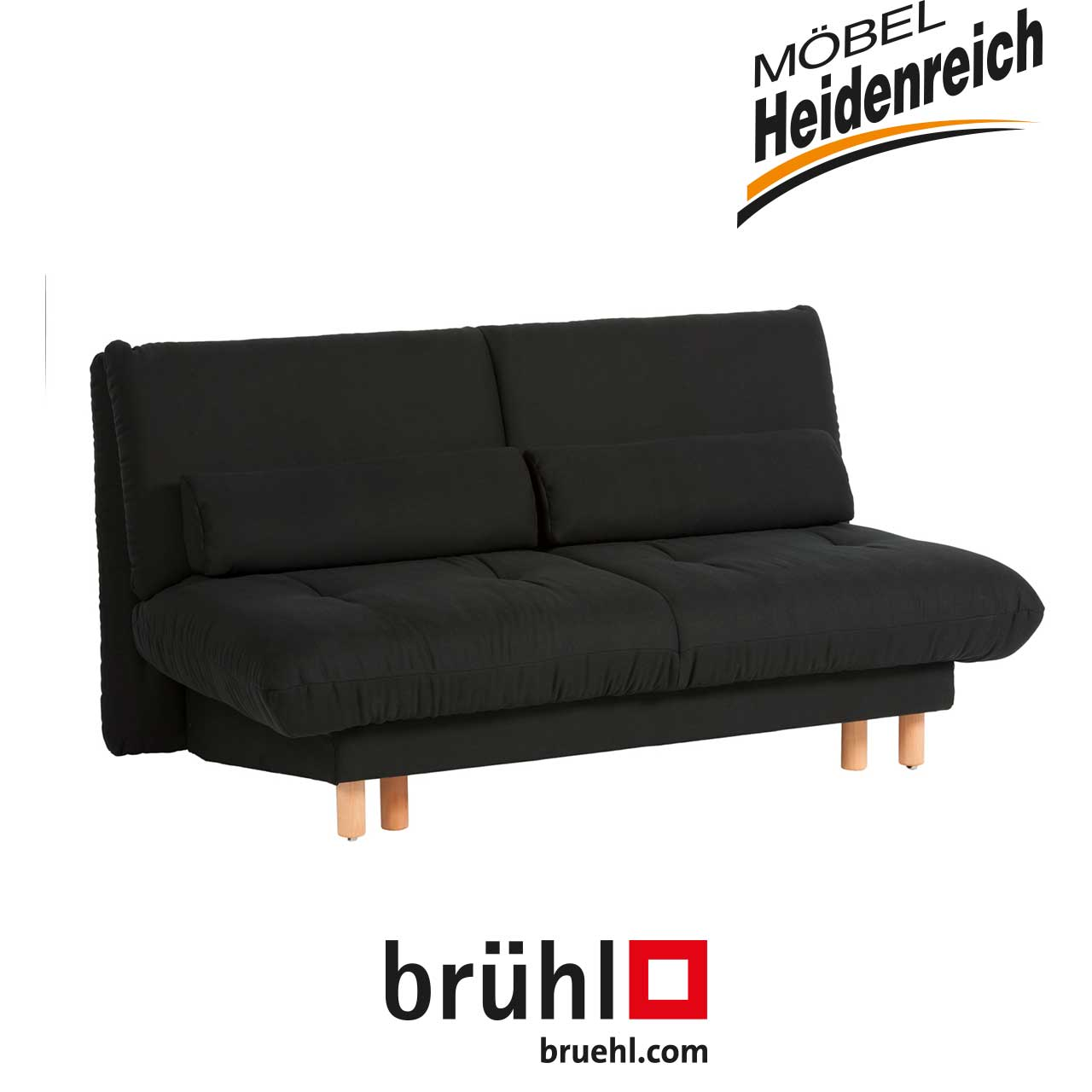 br hl bettsofa quint schwarz sofas garnituren sale m bel heidenreich. Black Bedroom Furniture Sets. Home Design Ideas