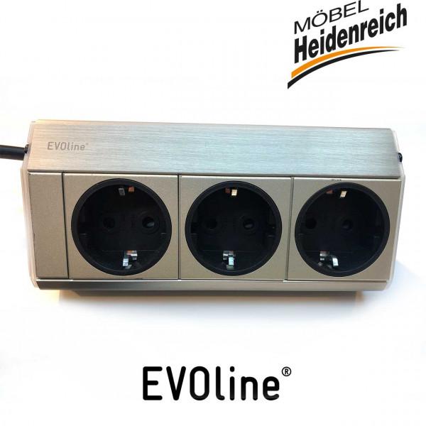 Evoline ® Dock Steckdosenelement, edelstahlfarbig 8031133