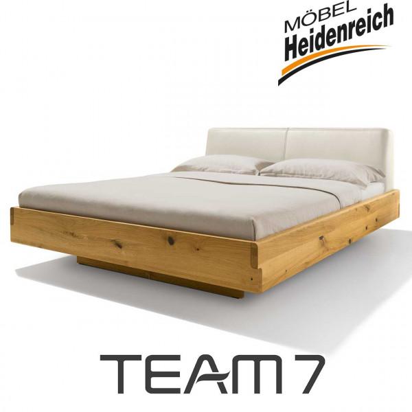 TEAM 7 nox Bett Polsterhaupt Leder L1 polarweiß Jubiläumsedition