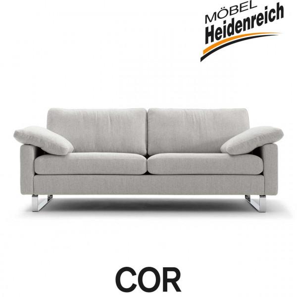 COR – Sofa Conseta – Stoff bodenfrei – 3 Breiten, 4 Farben