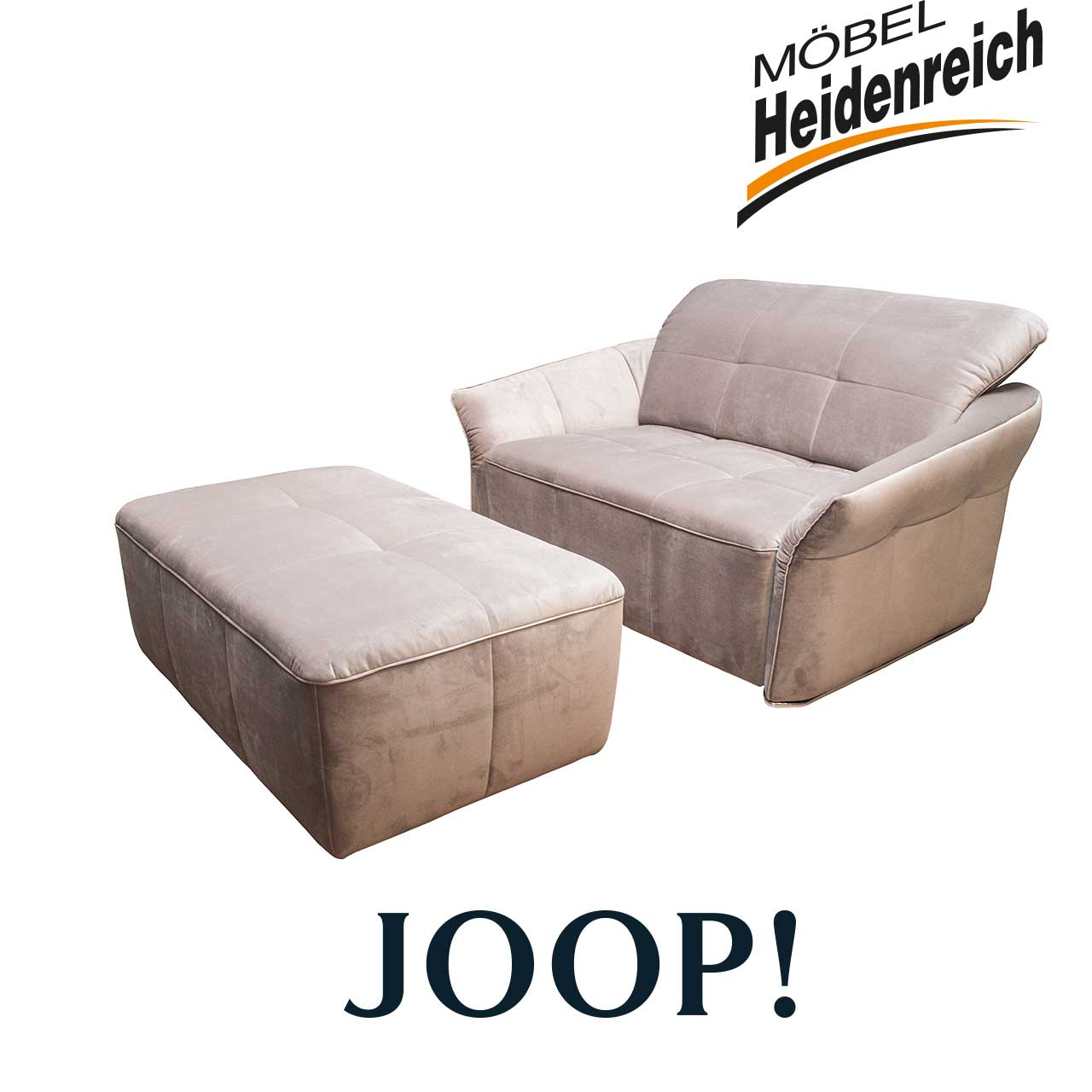 joop sessel overnight mit hocker motorisch grau sessel sale m bel heidenreich. Black Bedroom Furniture Sets. Home Design Ideas