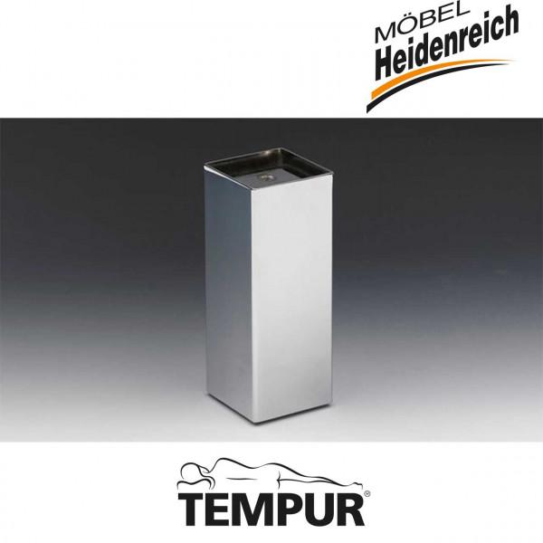 Tempur Chromfuß für Premium/Hybrid Flex Systemrahmen